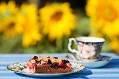 Temps de café dans le jardin Image libre de droits