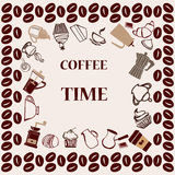 Temps de café - illustration Images stock