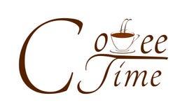 Temps de café - l'heure pour détendent, se cassent, boisson d'énergie illustration de vecteur