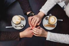 Temps de café, pause-café, amour Image libre de droits