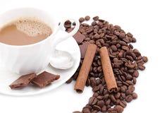 Temps de cappuccino Photos stock