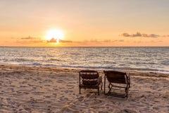 Temps de coucher du soleil Images stock