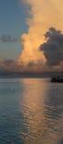 Temps de coucher du soleil en Maldives Photographie stock libre de droits