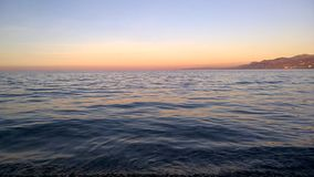 Temps de coucher du soleil pour la réflexion Images stock