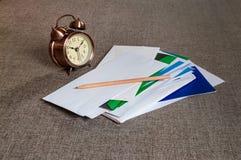 Temps de courrier Images stock