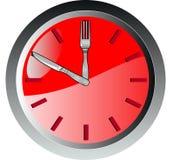 temps de couteau de fourchette d'horloge illustration libre de droits