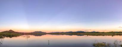 Temps de crépuscule de coucher du soleil Photos libres de droits