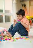 Temps de creational de Lego Image stock