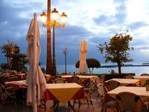 Temps de crépuscule dans Puerto Banus, Espagne Image stock