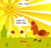 Temps de déjeuner illustration libre de droits