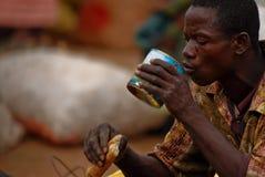 Temps de déjeuner africain Images libres de droits