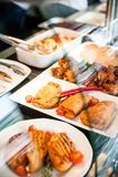 Temps de déjeuner d'exposition de nourriture Photographie stock libre de droits