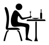 Temps de déjeuner d'icône d'homme illustration libre de droits