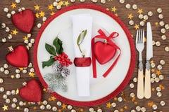 Temps de dîner de Noël Photos libres de droits