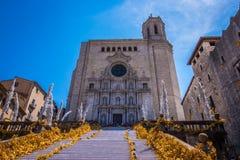 Temps DE flors, het Festival van de gebeurtenisbloem in Girona Catalonië stock afbeeldingen