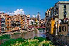 Temps De Flors, wydarzenie kwiatu festiwal w Girona Catalonia obraz royalty free