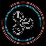 Temps de fonctionnement, symbole de vitesse Icône de chronomètre illustration libre de droits