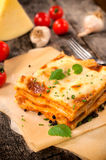 Temps de lasagne Photos stock