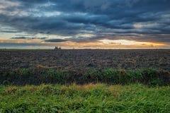 Temps de lever de soleil dans la campagne italienne du nord Photos stock