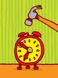 Temps de massacre/petit somme d'alarme illustration stock