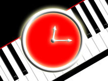 Temps de musique Images libres de droits