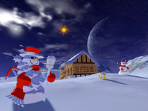 Temps de Noël Photo libre de droits