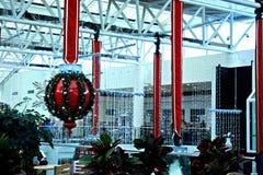 Temps de Noël au mail Images stock