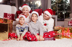 Temps de Noël de famille Photographie stock