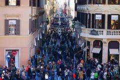 Temps de Noël de Rome Italie d'achats Images libres de droits