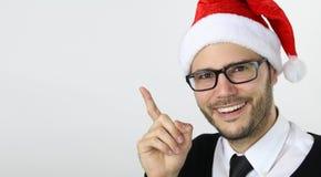 Temps de Noël - jeune homme d'affaires Photo stock