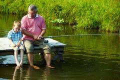 Temps de pêche Images libres de droits
