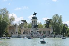 Temps de Peacefull à Madrid image stock