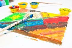 Temps de peinture Image stock