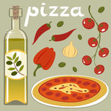 Temps de pizza illustration stock