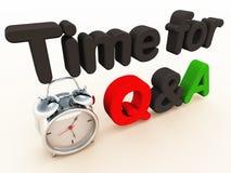 Temps de Q&A illustration stock