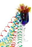 Temps de réception - glace bleue avec les bandes colorées Photo stock