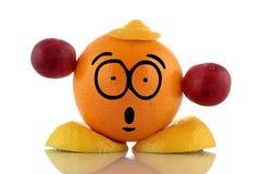 Temps de régime. Caractère drôle de fruit. Photographie stock