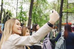 Temps de Selfie Photos libres de droits