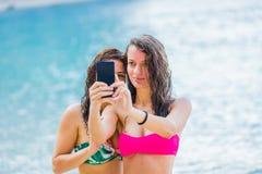 Temps de Selfie sur la plage Image stock