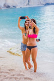 Temps de Selfie sur la plage Photographie stock libre de droits