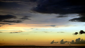 Temps de soirée dans Lombok Image stock