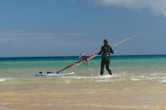 Temps de Sotavento pour surfer photographie stock libre de droits