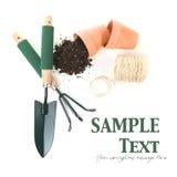 Temps de source faisant du jardinage avec l'espace de copie Photos stock