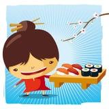 Temps de sushi Illustration de Vecteur