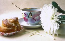 temps de té à Photo libre de droits