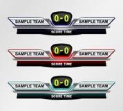 Temps de tableau indicateur de sport Image stock