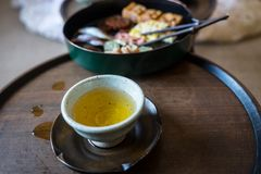 Temps de thé photographie stock libre de droits