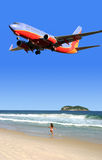 Temps de vacances, avion à réaction Image libre de droits