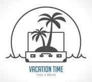 Temps de vacances - concept de valise de voyage - voyage = image libre de droits
