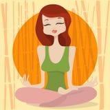 Temps de yoga illustration stock